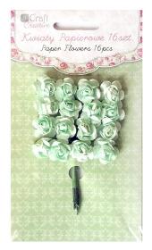 Kwiaty papierowe 2cm 16szt. róże MINT