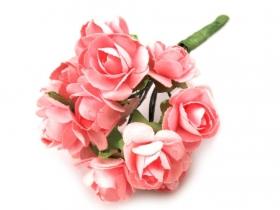 Kwiaty papierowe 2cm 12szt, róża- pudrowy róż