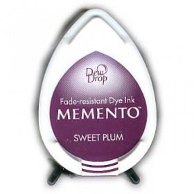 Tusz do stempli Memento Dew drops SWEET PLUM 13