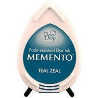 Tusz do stempli Memento Dew drops TEAL ZEAL 17