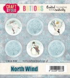 Badziki/buttons North Wind 6szt