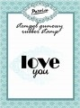 "Stempel gumowy ""I Love you"""