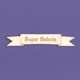 Tekturka - Super Babcia - Wstążka