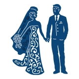 Wykrojnik Tattered Lace- Bride&Groom