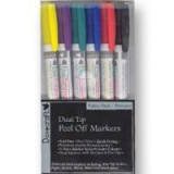 Peel- off markery kolorowe Bright
