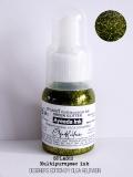 Tusz akrylowy SPLASH! Glitter-brokatowy oliwkowy