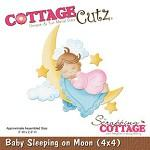 Wykrojnik Cottage Cutz Baby Sleeping on the moon