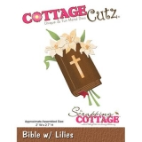 Wykrojnik Cottage Cutz Bible w lilies