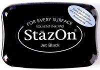 Tusz so stempli StazOn Jet black