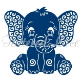 Wykrojnik Tattered Lace- Baby Elephant