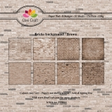 Papiery Dixi 15x15 cm Bricks background Brown