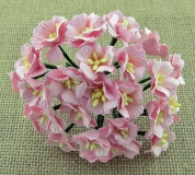 Kwiaty jabłoni - różowe - 5szt