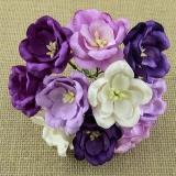 Kwiaty Magnolie - mix fioletowy - 5szt