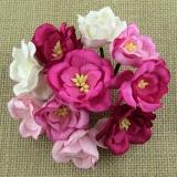Kwiaty Magnolie - mix różowy - 5szt