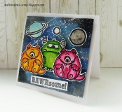 Stempel- Monster Fun 4x6