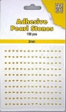 Samoprzylepne perełki 2 mm 150szt. złoto- zółte