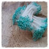Pręciki do kwiatów matowe turkusowe