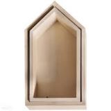 Drewniany domek 17x9x4 + 15x7,5x4 cm