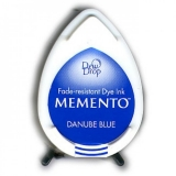 Tusz do stempli Memento Dew drops DANUBE BLUE 15