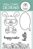 Stempel- Nerdy Easter Bunny  3x4