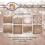 Papiery Dixi 15x15 cm Snow Crystal Brown