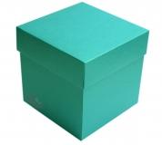 Exploding Box 10x10x10 cm kolor CURACAO turkusowy
