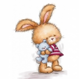 Stempel WRS Bunny and Teddy Królik i Mi¶
