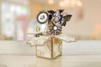 Folder Tattered Lace- Steampunk Pop Up Box