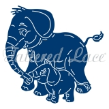 Wykrojnik Tattered Lace- Cute Elephants