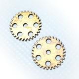 Zawieszka- zębatki XL- antyczne złoto- 2,5cm
