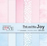 Pink and blue JOY- zestaw papierów- 30x30cm
