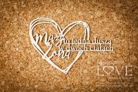 Napis- Mąż i Żona to jedna dusza- Wedding Day