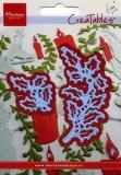 Wykrojnik gałązka ostrokrzewu