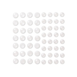 Kryształki samoprzylepne 8&10 mm 60 szt crystal