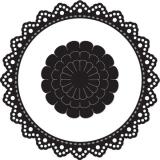 Wykrojnik Craftable ramka okrągła + kwiat