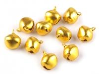 Dzwoneczki 13x16 mm złote kpl 10 szt