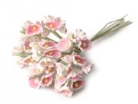Kwiaty na druciku 25mm różowe jasne- 8 szt