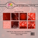 Papiery Dixi 15x15 cm Christmas Patterns/ Red