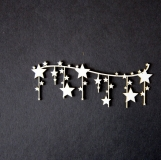 Świąteczna girlanda- gwiazdki