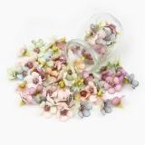 Kwiaty materiałowe F-4  10szt. mini kwiatuszków
