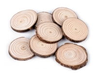 Krążek / plaster drewniany naturalny 8szt.
